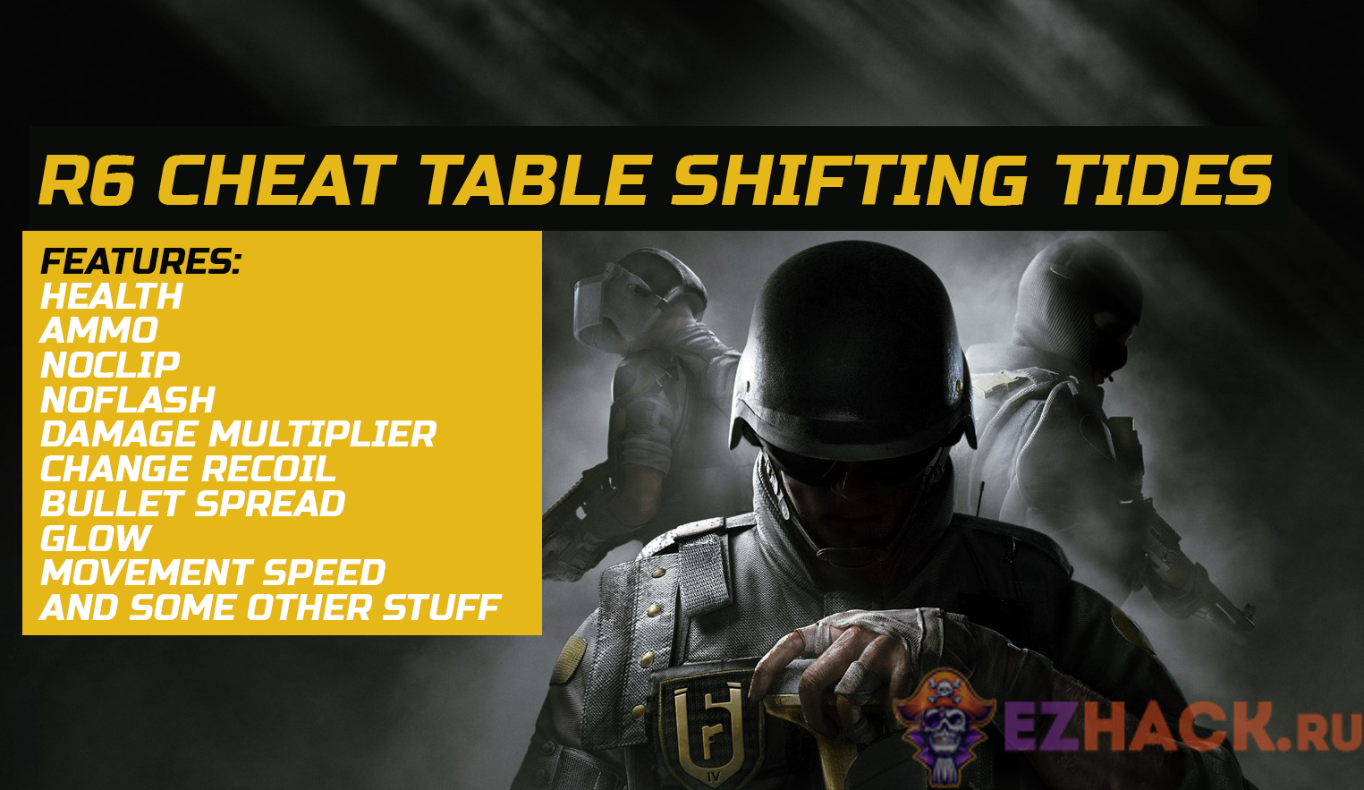 R6 Cheat Table Shifting Tides